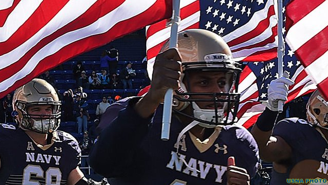 Navy football (USNA Photo)