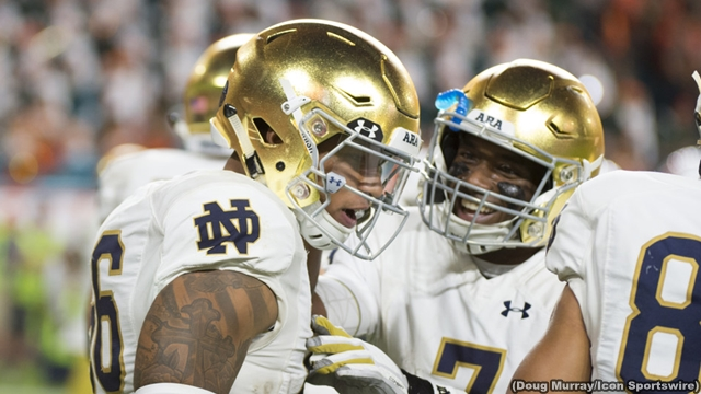 Notre Dame players