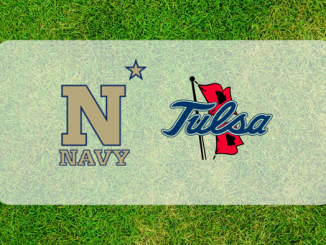 Navy and Tulsa logos