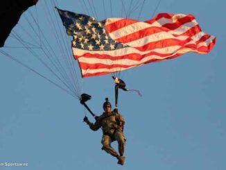 us flag skydiver